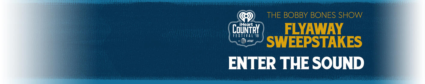 "Listen to the Bobby Bones Show for the ""Secret Sound"" to win a trip to our iHeart Country Festival!"