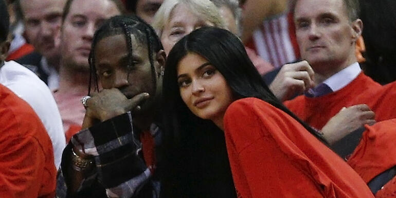 Travis Scott Gave Kylie Jenner A $1.4 Million Ferrari For Her Push Present