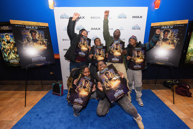 Boys & Girls Club, Together With IMAX, Regal Entertainment Group, Walt Disney Pictures, And Marvel Studios Present Advance Screening Of 'Black Panther'