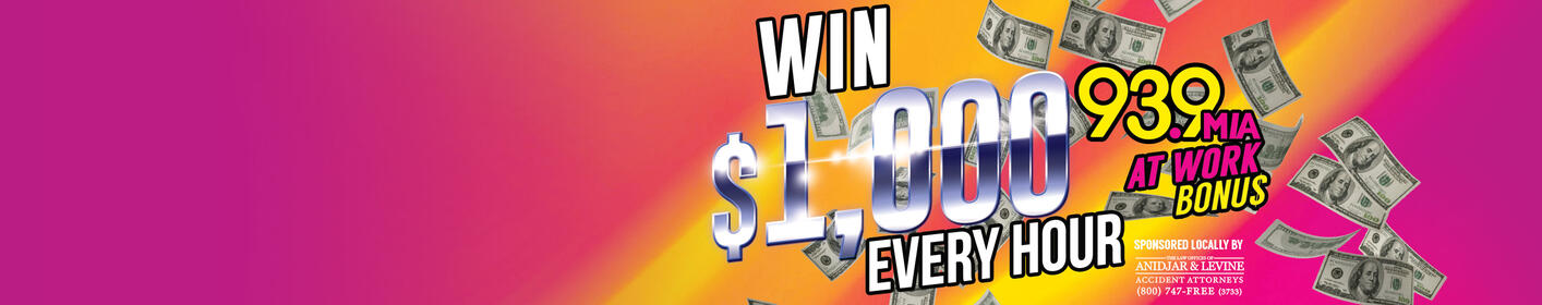 The At Work Bonus is Back!! Tune In For Your Chance at $1,000 Every Hour!