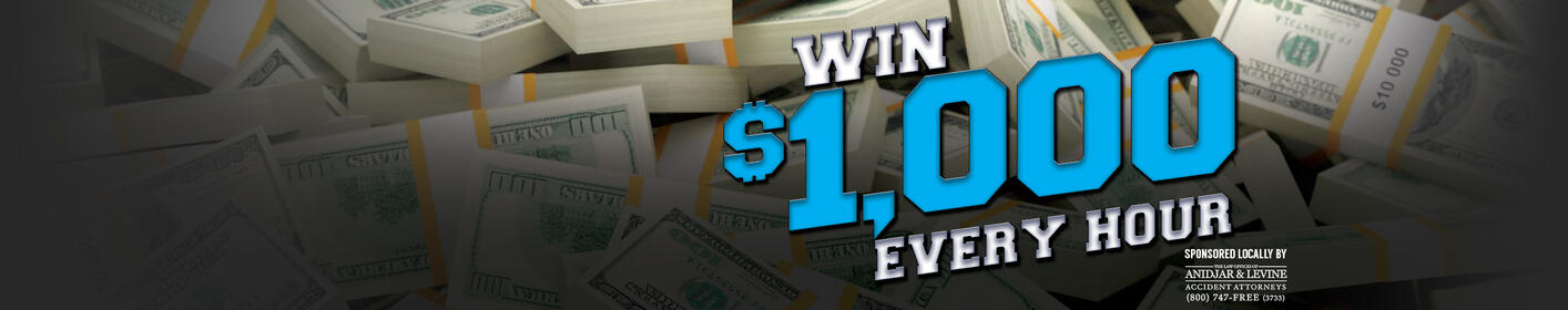 The WINZ Cash Dash is Back Weekdays 6a-9p!