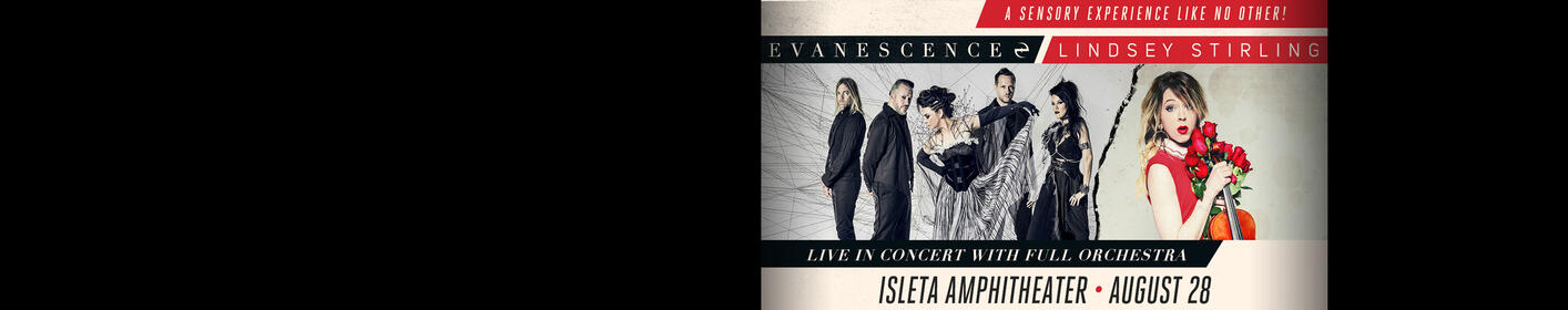 Evanescence & Lindsey Stirling Live At The Isleta Amphitheater!