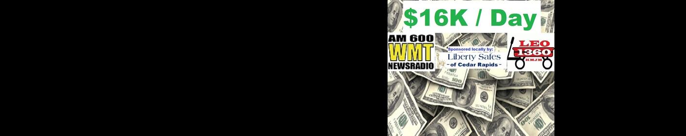 WIN $1,000 an Hour. 5am-8pm Listen to Text in to Win