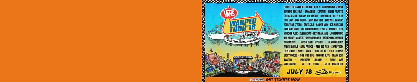 Win tickets to Vans Warped Tour 2018!