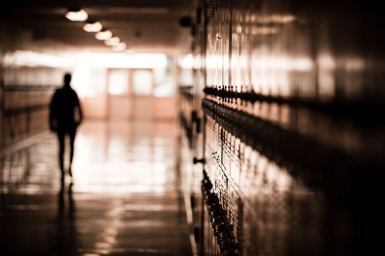 School Hallway Locker Getty RF