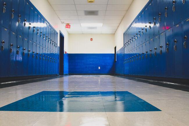 School Hallway Locker Getty RF