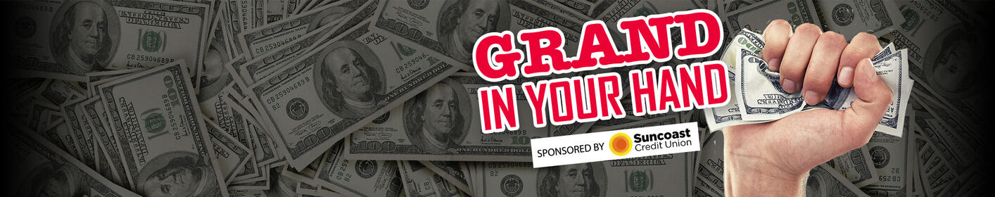 Your Chance To Win A Grand In Your Hand 16X's A Day On WDAE | Listen At The Top Of Each Hour To Play