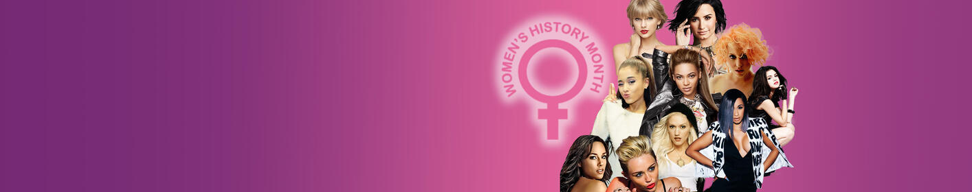 WE ARE HIGHLIGHTING WOMEN WHO HAVE MADE HISTORY IN MUSIC ALL MONTH FOR WOMEN'S HISTORY MONTH! FIND OUT WHO HERE!