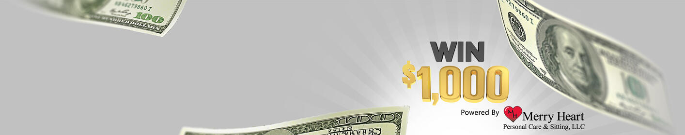 Thousand Dollar Payday! Listen to Win $1,000 Every Hour!