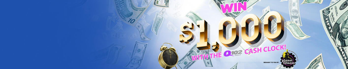 Win Some Green With The Q102 Thousand Dollar Cash Clock!