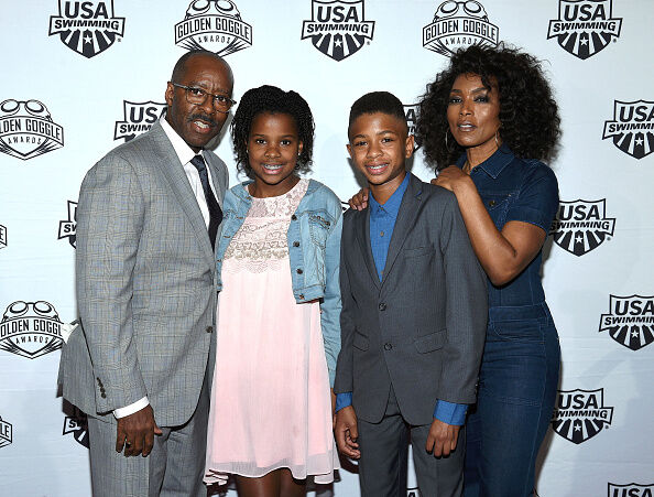 Getty Images - Courtney B. Vance, Bronwyn Vance, Slater Vance and Angela Bassett