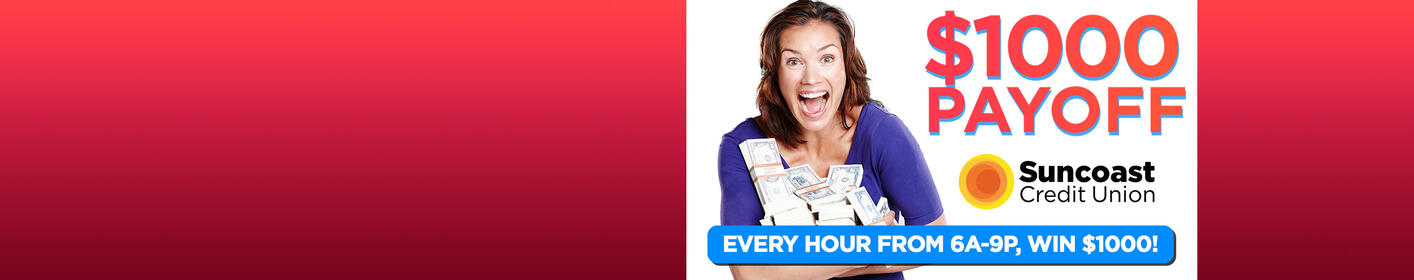 16 Chances to Win $1,000 Everyday!