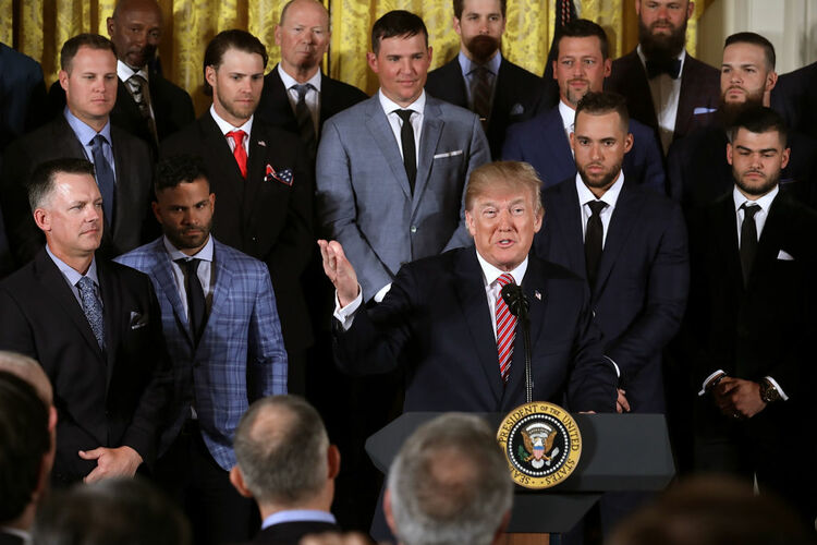 Astros at White House