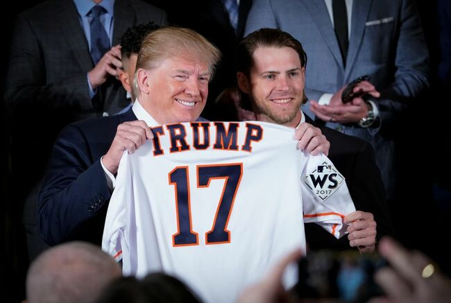 Trump with Astros