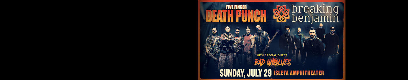 Five Finger Death Punch & Breaking Benjamin Live In ABQ!