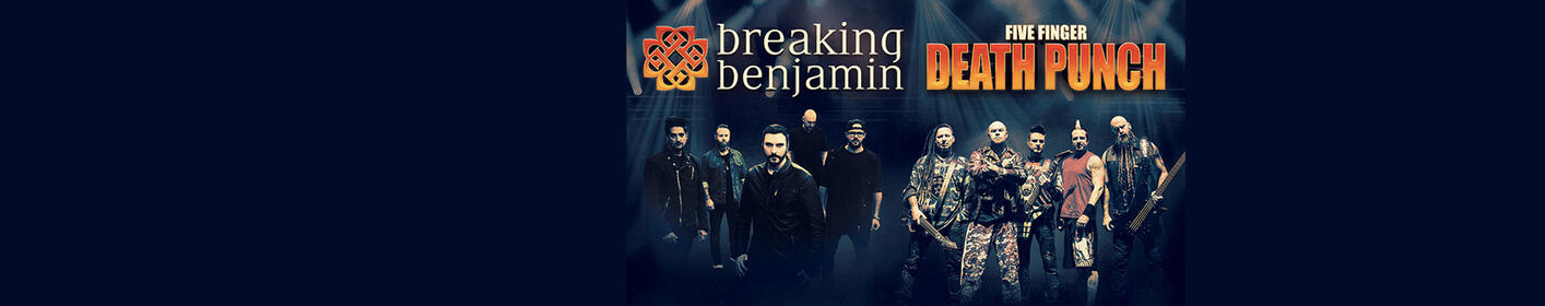 Breaking Benjamin & Five Finger Death Punch - The Pavilion at Montage Mountain in Scranton Fri, Aug 17th!