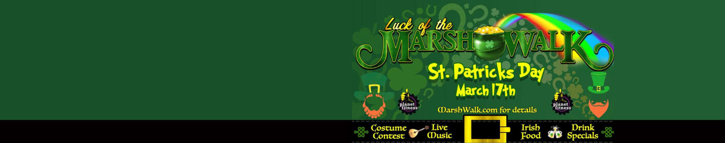 Get your 'green' on Saturday on the Marshwalk with Mix 97.7 LIVE!