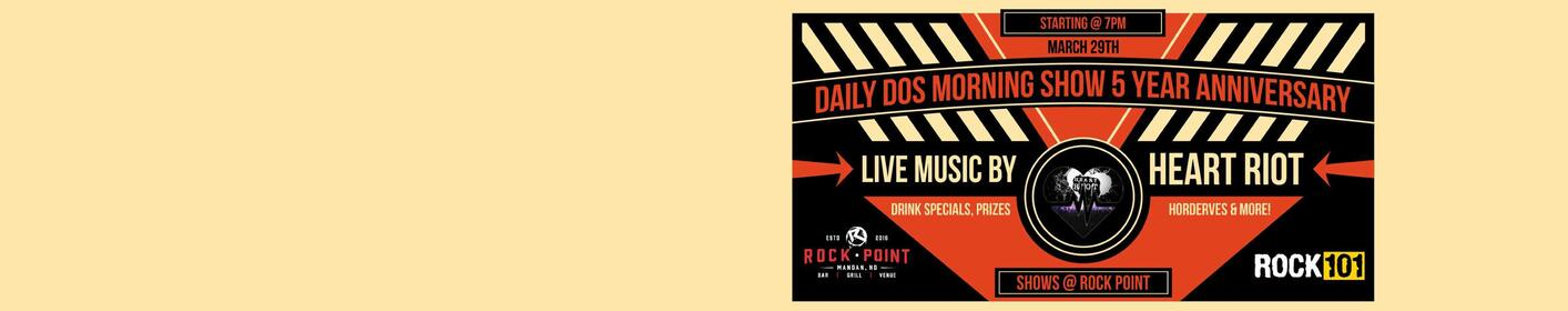 Join us at Rock Point for the Daily Dos 5 Year Anniversary Party!