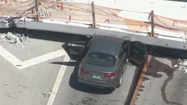 Pedestrian Bridge Collapses At FIU In Miami