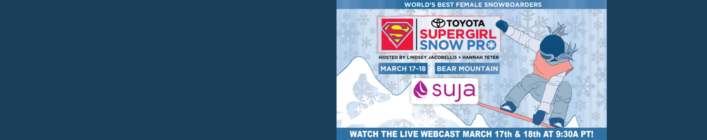 Watch the Toyota Supergirl Snow Pro LIVE Webcast!