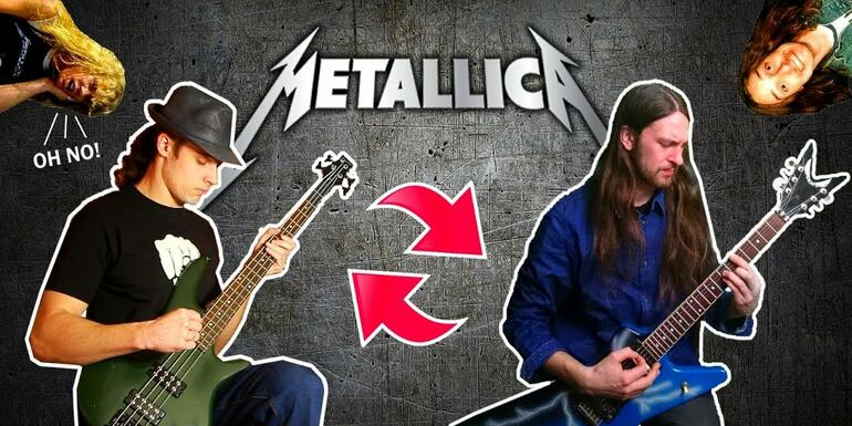 Watch Metallica Songs Performed With Guitar and Bass Parts Switched