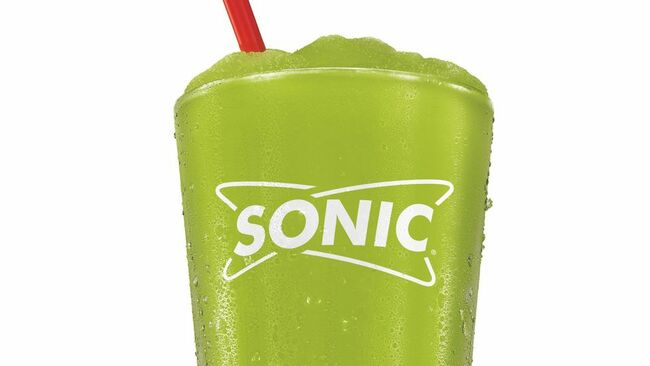 Pucker up … The Sonic Drive-In chain is introducing a new frozen drink in June called Pickle Juice Slush