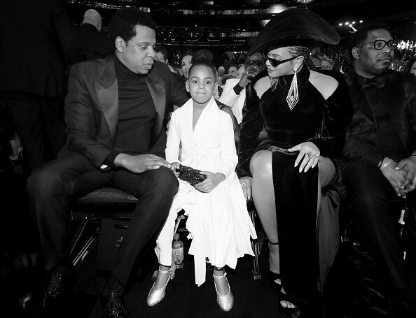 Jay-Z, Blue Ivy and Beyonce - Getty Images