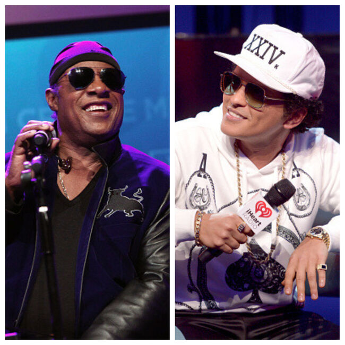 Stevie Wonder and Bruno Mars - Getty Images
