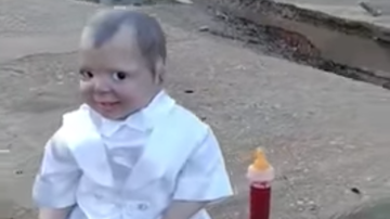 Johnjay And Rich - Creepiest Doll Ever Found Sitting In A Cemetery
