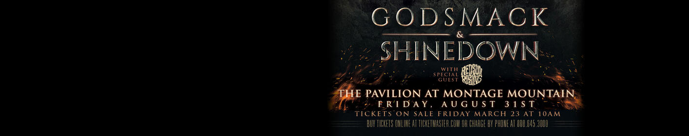 WIN TICKETS! Godsmack with Shinedown @ The Pavilion at Montage Mountain! Contest and Ticket Info Here