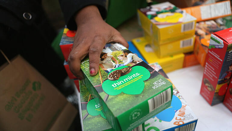 Woman Buys $600 Worth Of Girl Scout Cookies, Tells Girls To Give Them Away