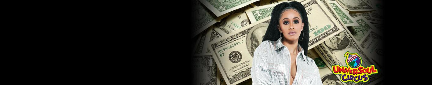 Makin' Money Moves! Listen to Win $1000 Every Hour. Powered by Universoul Circus