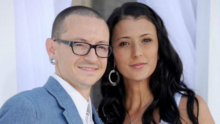 Chester Bennington and his widow, Talinda
