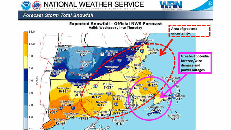 Storm Could Bring 6-8 Inches of Snow to Boston Area