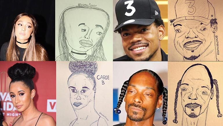 Instagram Artist's Strange Portraits Go Viral