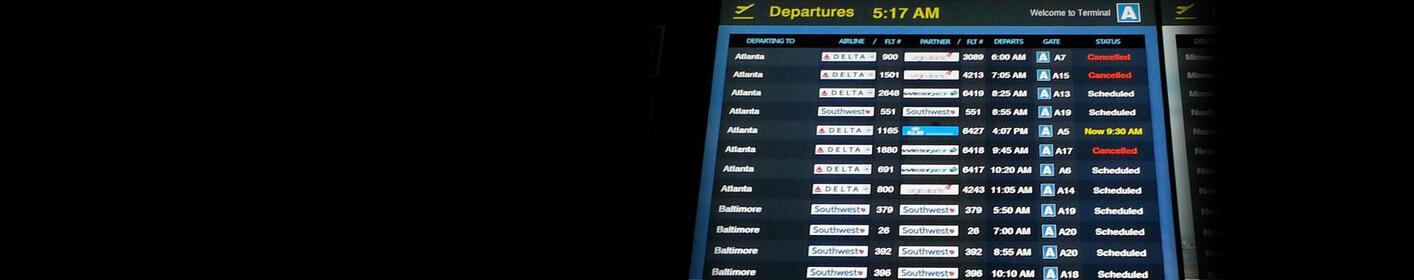 Flight Cancellations Increase As 'Four'easter' Descends On New England