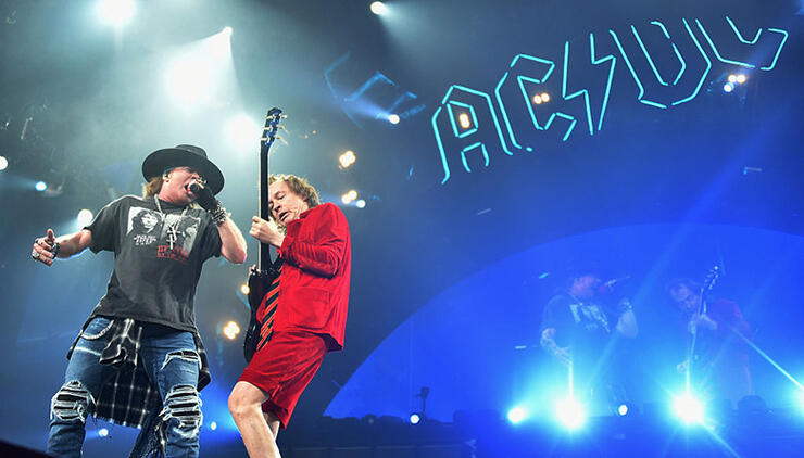 AC/DC Guitarist Angus Young Performing With Axl Rose