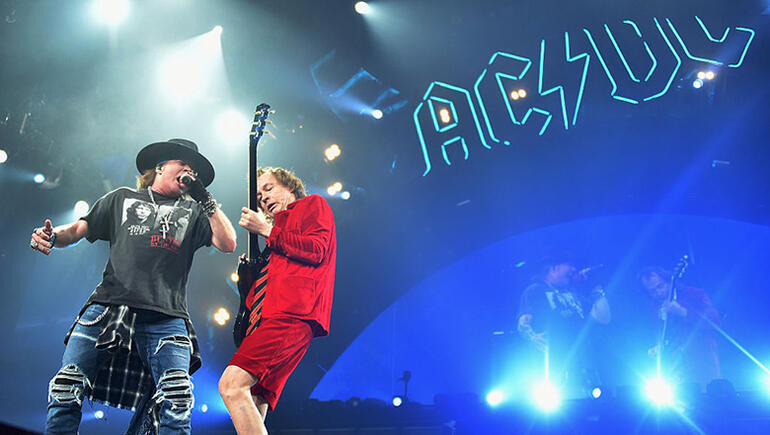Angus Young Reportedly Writing New AC/DC Album With Axl Rose