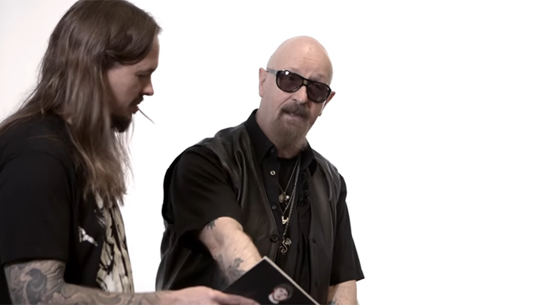 Watch Judas Priest's Rob Halford React to Old Photos of Himself