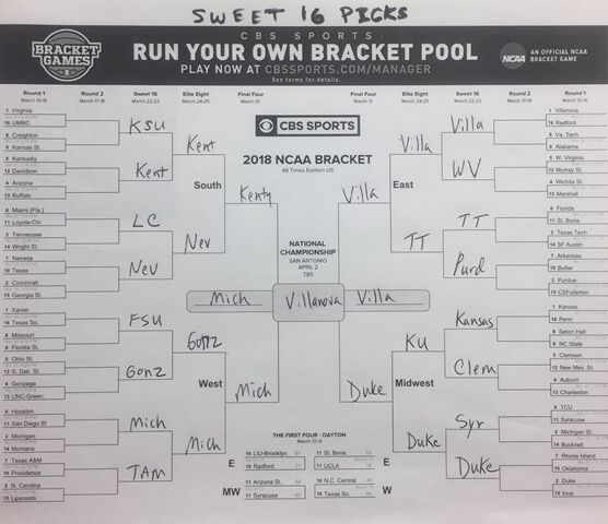 Pitz Picks: Revised for NCAA Tournament Sweet 16