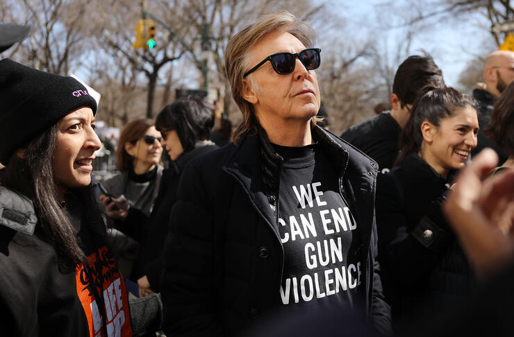 Paul McCartney marches against gun violence