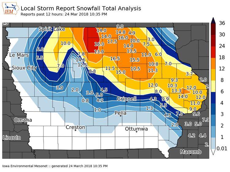 Snowfall totals - Iowa State University