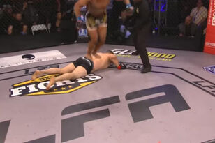 MMA Fighter Does Flip Off Of KO'd Opponent