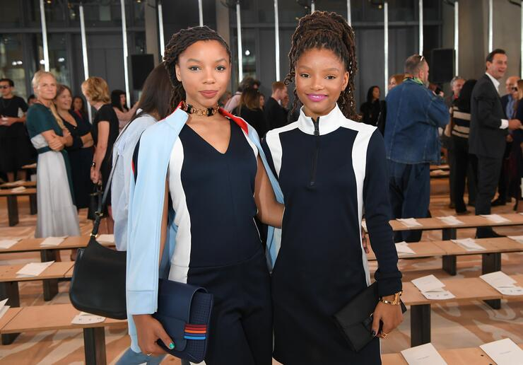 Chloe x Halle at the Tory Burch Fashion Show