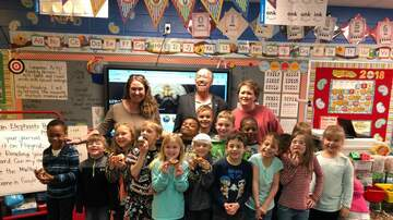 Dollar Bill & Madison's Doing Good - Dollar Bill and Madison surprise and honor Mrs. Wylie at Lincoln Elementary