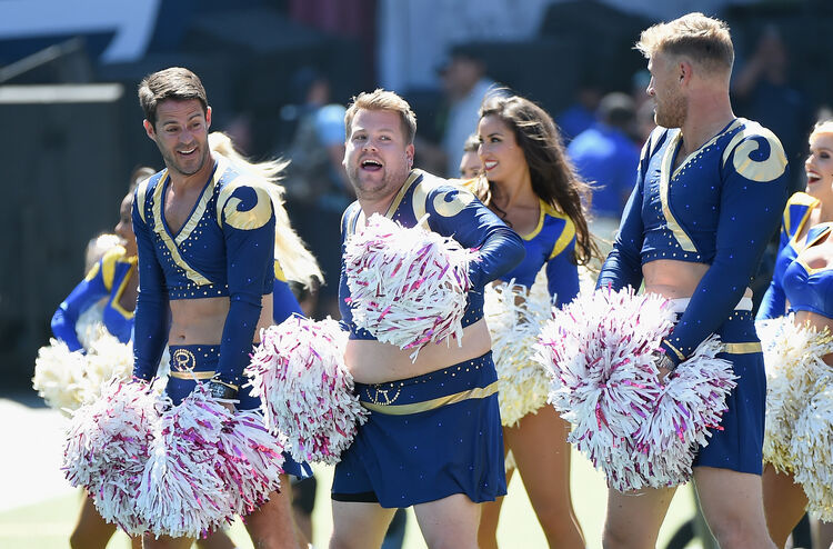 Image result for rams male cheerleader
