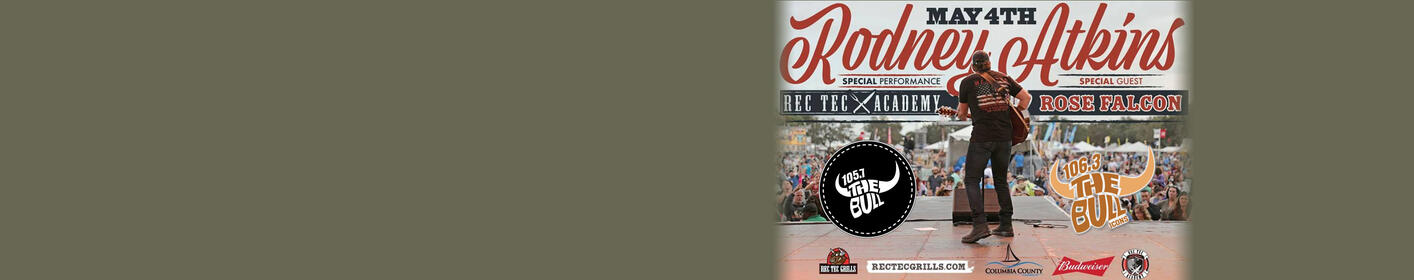 The Bull welcomes RODNEY ATKINS: Friday 5/4 - Columbia Co. Amphitheater in Evans!
