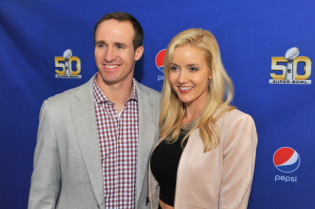 Drew Brees Brittany Brees Getty