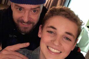 Justin Timberlake & Ryan The Selfie Kid Reunite (PHOTO)