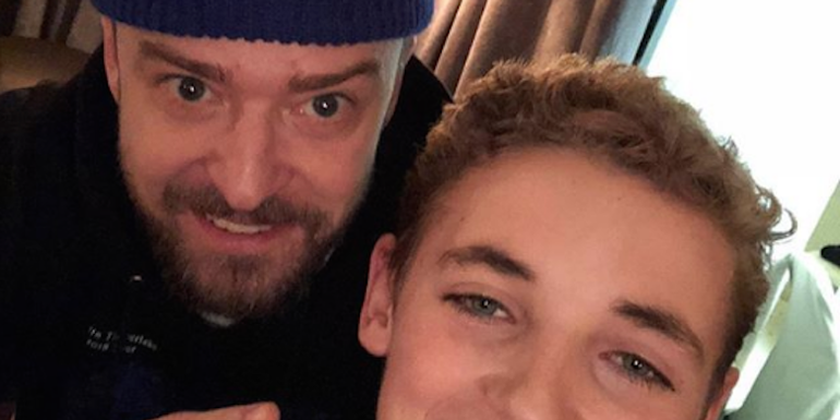 Justin Timberlake & Ryan The Selfie Kid Reunite (PHOTO)